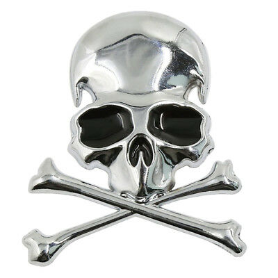 Metal 3d Wicked Skull Bone Shape motorcycle car emblem badge sticker Z8I1