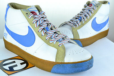 new products b5af4 60b78 Nike Blazer Premium SB Milk Crate White Orion Blue Size 9 314070 141 2007