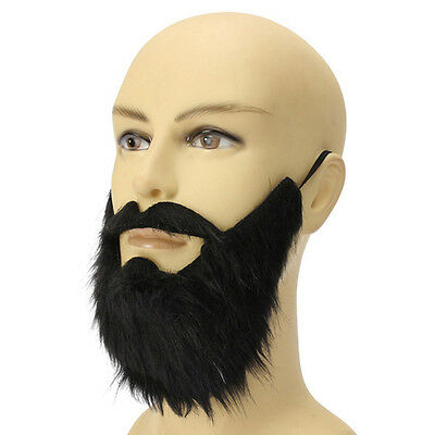Fake Beard Mustache Simulation Man Stage Shows Life Makeup Props Whiskers Funny