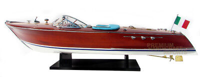 Riva Super Ariston Gorgeous  Handmade Wooden Model Speedboat 35""