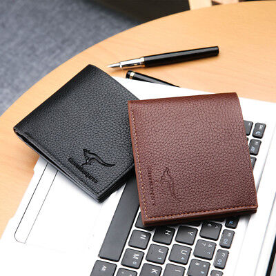 Mens Genuine Leather Credit Card Holder Wallet Bifold ID Cash Coin Purse Clutch