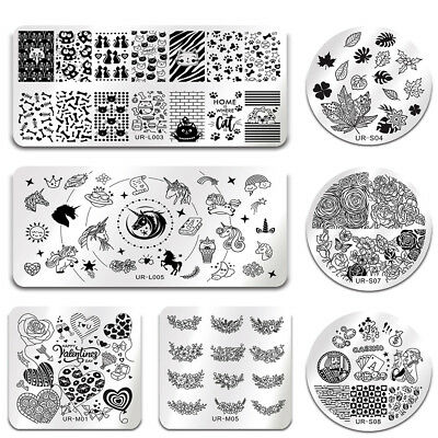 UR SUGAR Nail Stamping Plates Animal Love Nail Art Image Template Manicure