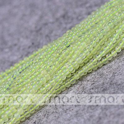 "Natural Prehnite Gemstone Round Loose Beads 15.5"" Inches Strand 3mm"