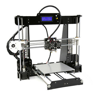 NEW CVAHS-G882 ANET A8-M DIY 3D PRINTER KIT HAS TWO EXTRUSION NOZZLES AND C.g.
