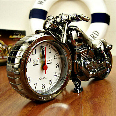 Motorcycle Autobike Model Quartz Analog Top Grade Desk Alarm Clock Home Decor