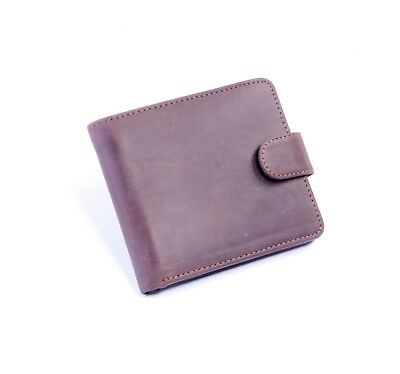 Leather Wallet Passcase Gift Box New Credit Card ID Mens Bifold Genuine Leather