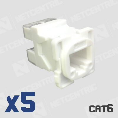 5 X Cat6 Ethernet keystone Jack Insert for Clipsal & Similar Plates RJ45