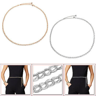 Ladies Adjustable Chain Design Metal Waist Belt for Wedding Bridal Dresses Gown