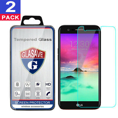 (2 Pack) GLASAVE Tempered Glass Screen Protector For LG K20 / K20 Plus All Model