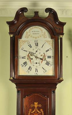 MAHOGANY LONGCASE GRANDFATHER CLOCK - William Brownlie, Hamilton