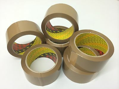 Strong Packaging Tape - 3M Brown / Clear / Fragile 48mm x 66M Rolls Parcel Tape