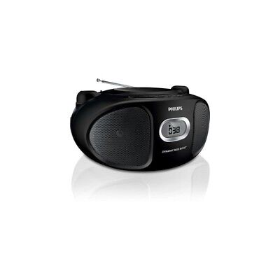 Philips AZ105C/05 Portable CD Player with FM Tuner and Line-In BLACK