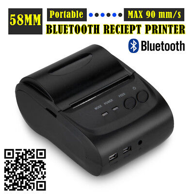 Portable Mobile Bluetooth Wireless USB 58mm 90mm/s Thermal Dot Receipt Printer