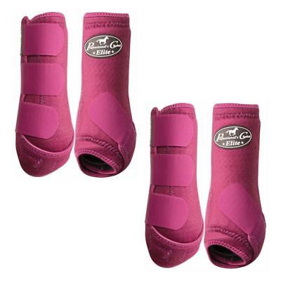 Professionals Choice Boots - Wine - Medium Front & Hind 4 Pack
