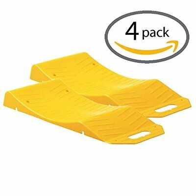 Ramps For Storage Flat Spot And Flat Tire Prevention Tire Saver Color Yellow