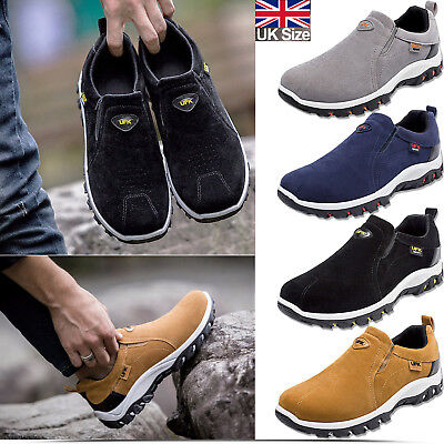 Men Womens Safety Laceless Casual Work Boots Breathable Gym Sports Sneaker Shoes
