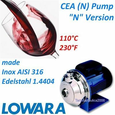 Centrifugal Industrial Pump in Stainless Steel AISI316 Lowara CEA(N) 3x400V 50Hz