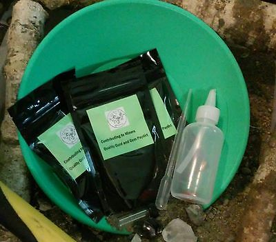 Greenhorn gift pack ..gold paydirt panning kit.  Guaranteed...GOLD!!!!