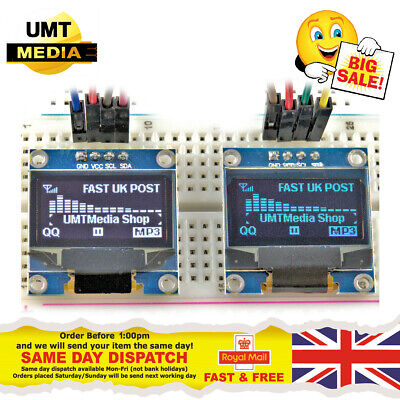 "0.96"" OLED 128X64 IIC I2C SPI White/Blue/Yellow Display Arduino ESP8266 SSD1306"