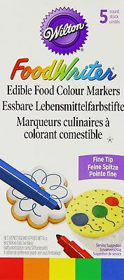 Wilton Edible Food Writer Pens 5 Pack Cupcake Decorating Baking Primary Colours