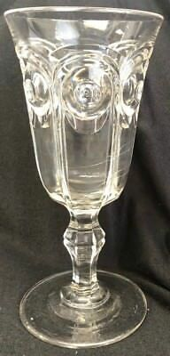 "Vintage 9"" Tall Pressed Glass Footed 3 Seem Celery Holder"