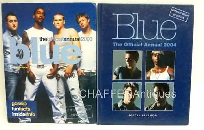 The Pop Band BLUE The Official 2003 & 2004 Annual FIRST EDITIONs with rare cover
