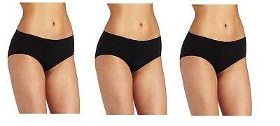 4a20557fb51c VANITY FAIR WOMEN'S Seamless Hipster Panty Classic Black Large/7 ...
