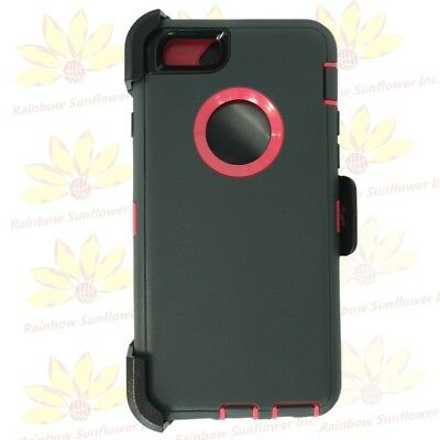 "Gray Pink For Apple iPhone 6S Plus (5.5"") Case w/ Clip fits Otterbox Defender"