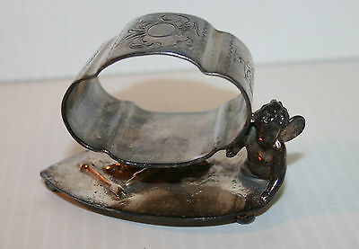 Victorian Silver Plated Napkin Ring Lucky In Love Wilcox SPC #4351
