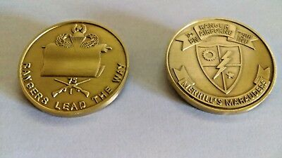 Army Ranger Old Scroll 1st Ranger Battalion Challenge Coin ENGRAVEABLE!