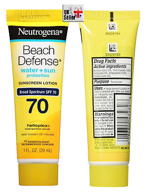 Neutrogena Beach Defense Sunscreen Lotion SPF 70 water resistance 80minutes 1oz