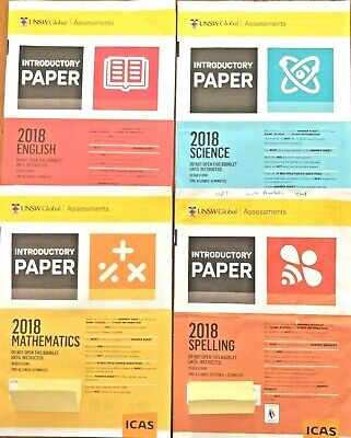 Icas Past Papers(Introductory,a,b,c,d) Used Year 2,3,4,5,6 In Good Condition