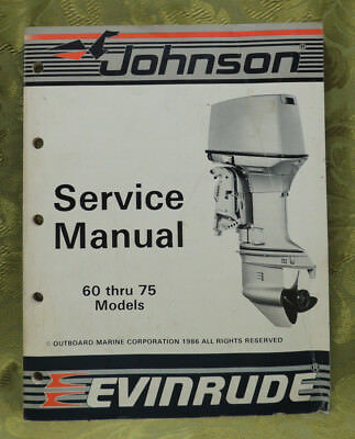 1987 Johnson Outboard Service Repair Manual 60 65 70 75 HP Evinrude