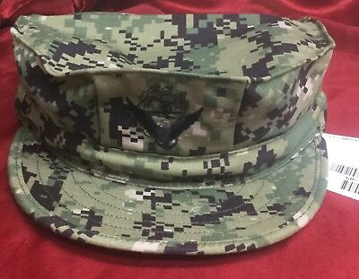 NAVY NWU TYPE III AOR 2 Forest 8 Point Cover Size 7 1/4 WITH ACE