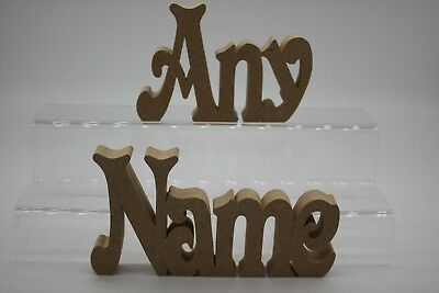Personalised  18mm Mdf Freestanding Name Plaque Various Sizes Price Per Letter