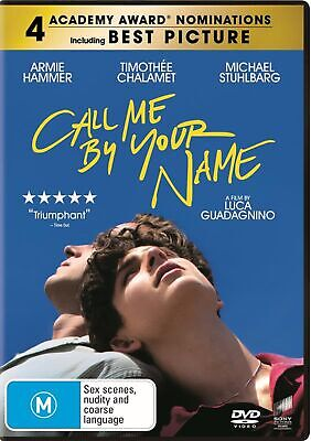 Call Me By Your Name DVD Region 4 NEW