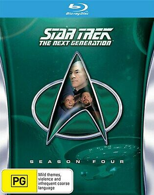 Star Trek the Next Generation The Complete Season 4 Box Set Blu-ray Region B