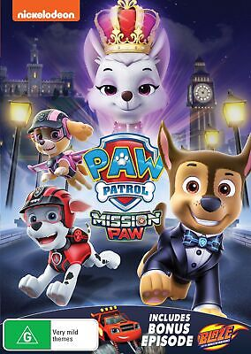 Paw Patrol Mission Paw DVD Region 4 NEW