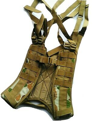 Auscam 8 Point Harness Military Webbing HD 900 Denier Double PU Coated - TAS
