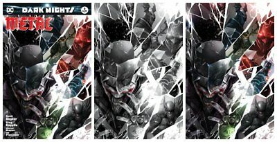 Dark Nights Metal #6 Francesco Mattina Trade/Bw/Virgin Variant Set Ltd 700 Dc Nm