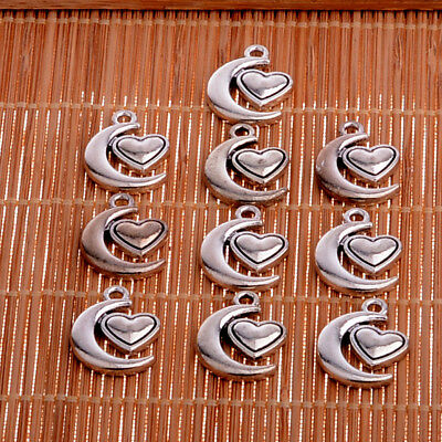10PC Heart Love Animal Tree Charm Pendant For Necklace Bracelet Jewelry Gifts
