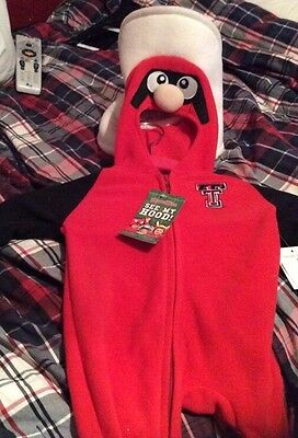 New W/Tags Mascot Wear See My Hood Texas Tech Red Raiders- 12 Months