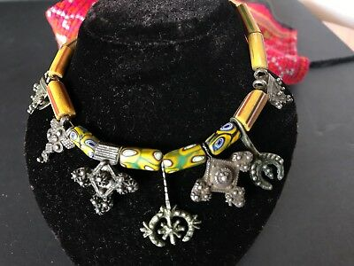 Old Mali West African Neckless …with beautiful handmade beads
