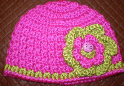 Handmade Crochet Baby Hat in 8 ply yarn FH337