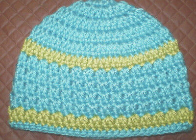 Handmade Crochet Baby Hat in 8 ply yarn B309