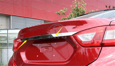 Fit for Chevrolet Cruze 2017-2018 Stainless Steel Rear Trunk Lid Cover Trim 1PC