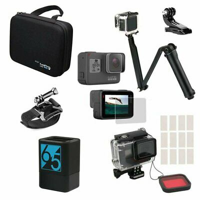 Dual Charger Underwater Case Red Len Filter Collection Bag for GoPro Hero 7 6 5
