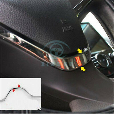 1PC Stainless Car Steering Wheel Cover Trim For Chevrolet Cruze 2017-2018