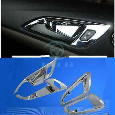 4PCS Chrome Car decoration indoor handle Trim Fit For Chevrolet Cruze 2017-2018