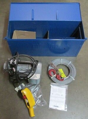 NEW NOS Tractel Minifor TR10 Portable Motorized Wire Rope Winch 133' 115V Hoist